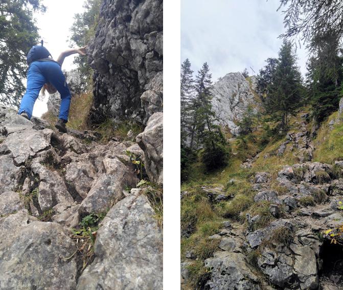 Kraxelei zum Gipfel des Leonhardstein