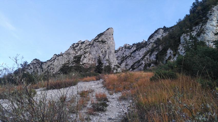 Felsen und Schuttkegel am Rauschberg