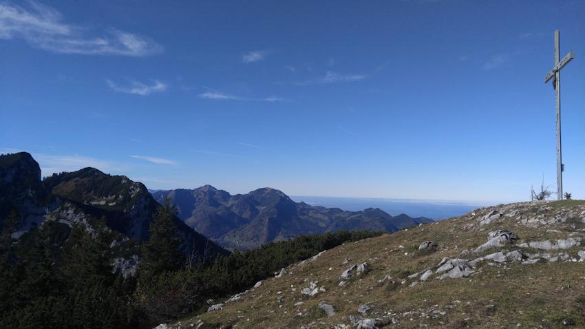 Gipfel des Streicher mit Blick zum Rauschberg