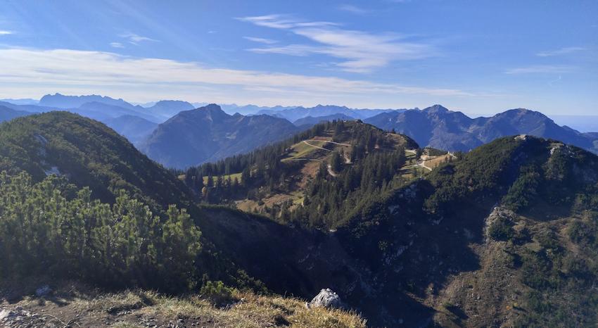 Ausblick vom hinteren Rauschberg