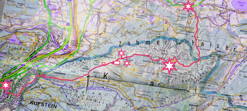 Wanderung ohne Auto: Zahmer Kaiser Durchquerung von Kufstein nach Walchsee