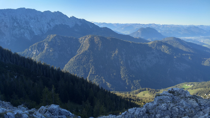 Blick vom Zahmer Kaiser Gebirge