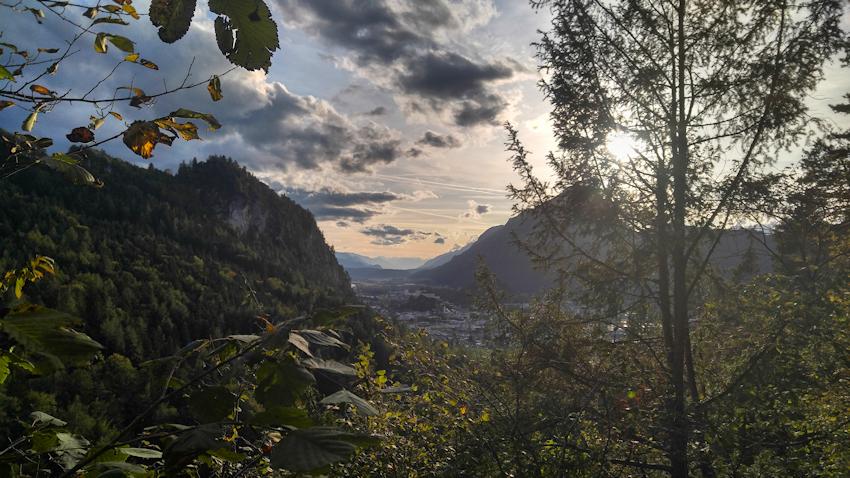Blick über Kufstein vom Kaisertal Aufstieg