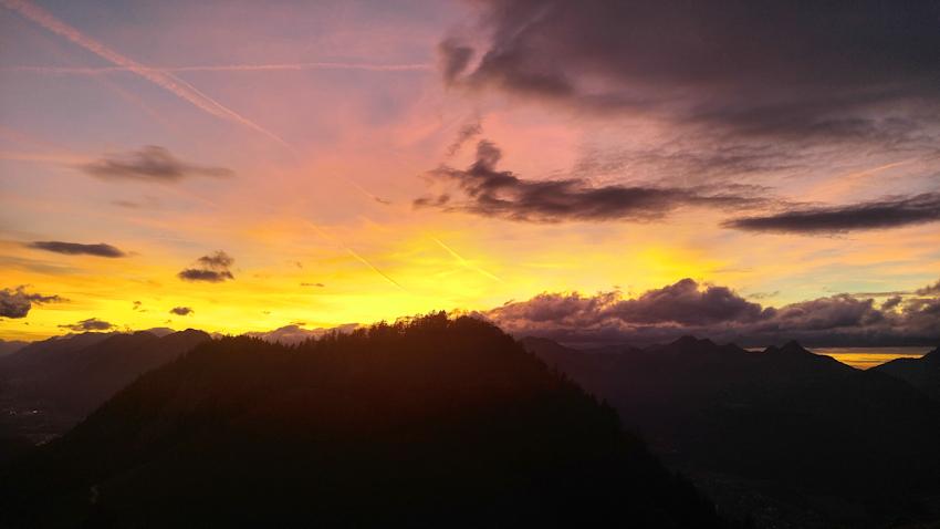 Sonnenuntergang am Zahmer Kaiser