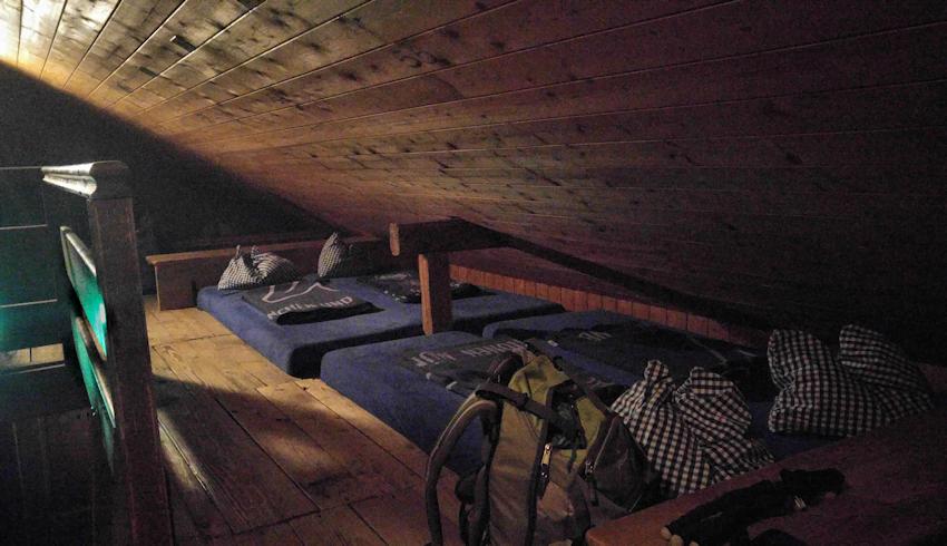 Schlaflager Vorderkaiserfelden Hütte
