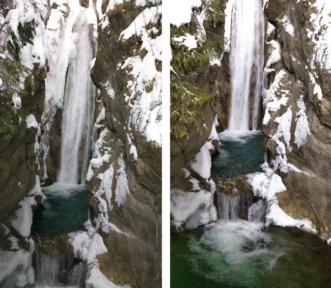 Wasserfälle im Winter