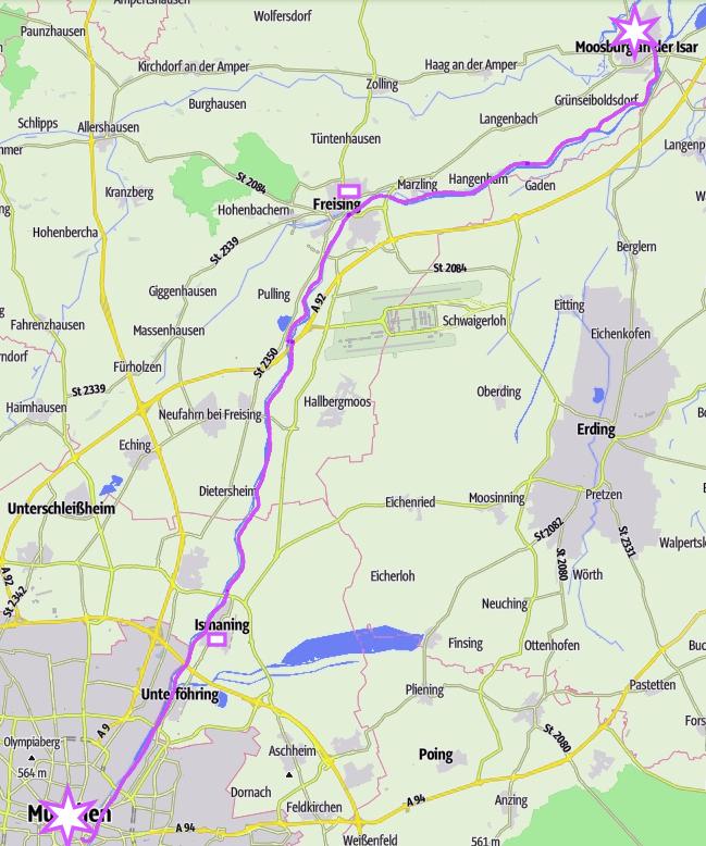 Isar-Radweg: München - Freising - Moosburg