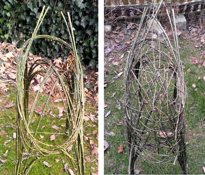 Figur aus Weidenruten Naturmaterial selber machen