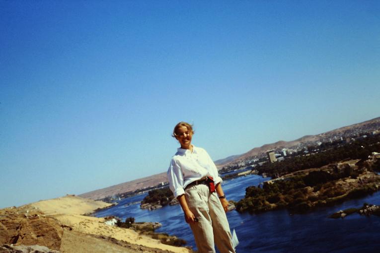 auf dem Hochufer des Nils bei Assuan