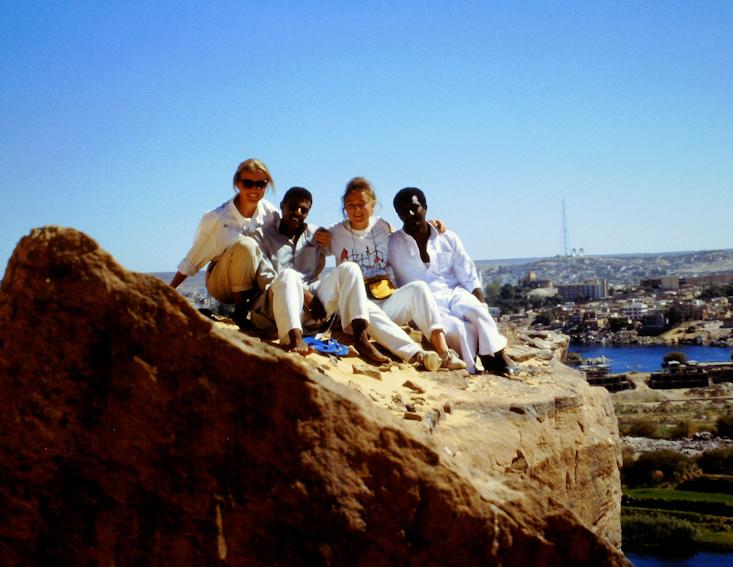 Felsengrab am Hochufer des Nils bei Assuan