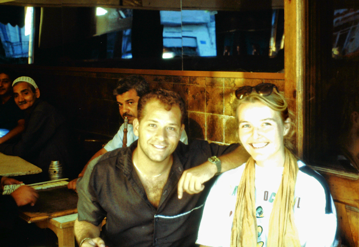 mit Vico in einem urigen Kaffee in Kairo