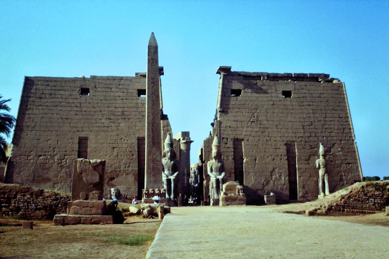 Luxor Tempel Eingang