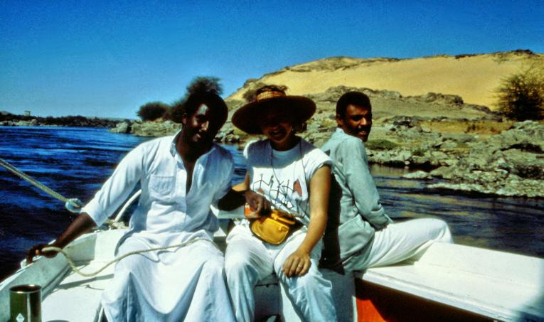 mit dem Boot auf dem Nil bei Assuan