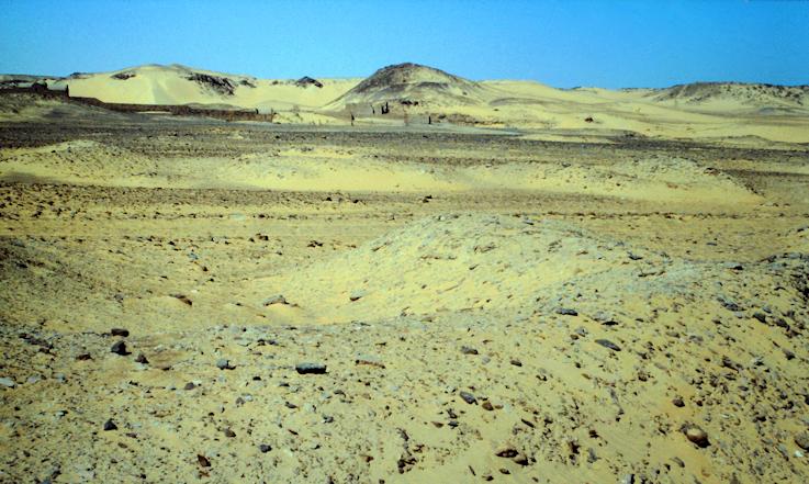 Auf dem Weg zum Simeonskloster in der Wüste