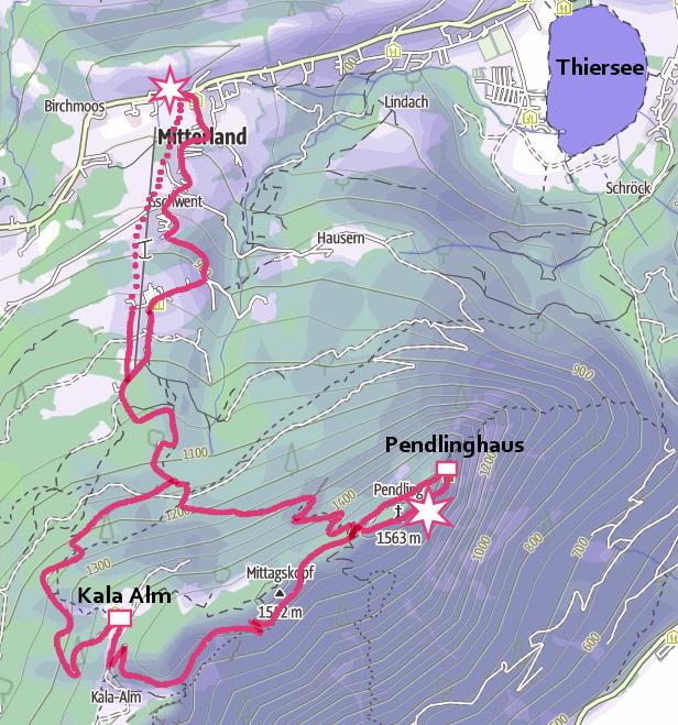 Winterwanderung mit Rodel: von Thiersee auf den Pendling