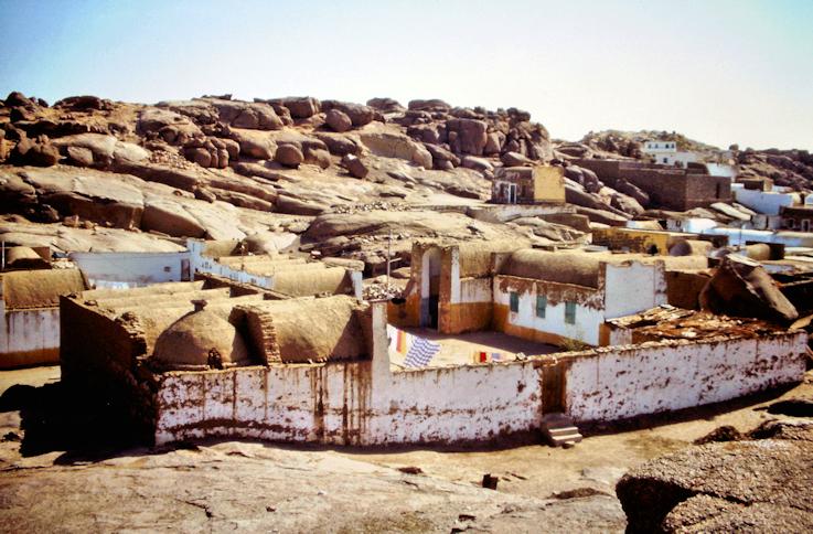 Lehmhäuser auf der Insel Sehel