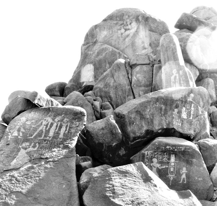 Felsinschriften auf der Insel Sehel