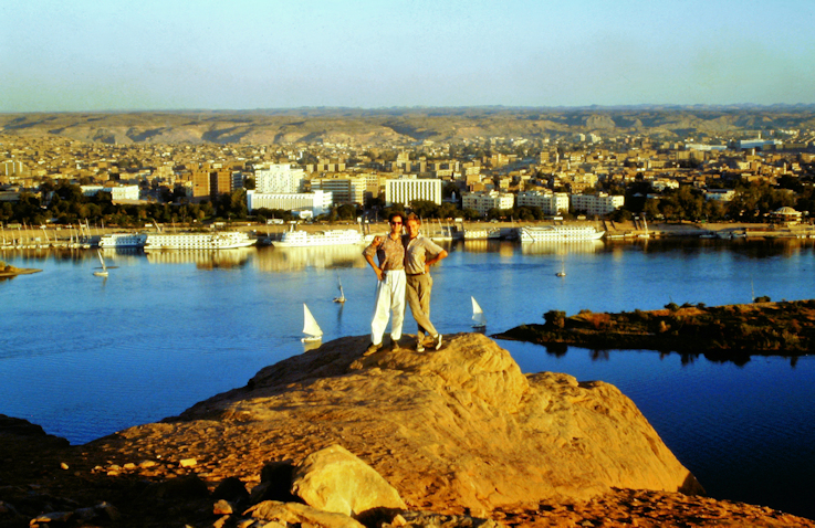 Die beiden Martins vor dem Nil und Assuan