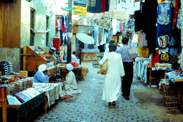 auf dem Bazar in Assuan