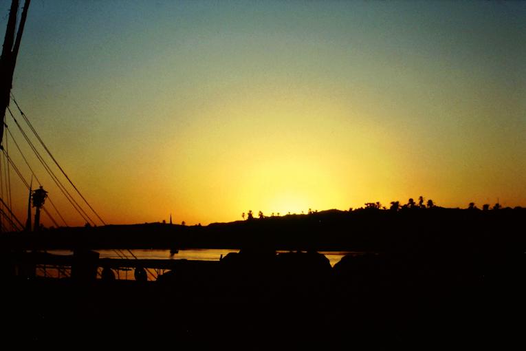 Sonnenuntergang über dem Nil