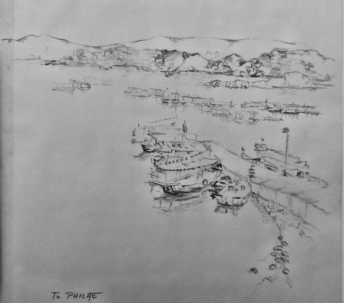 Zeichnung von Philae