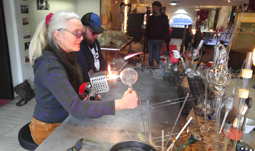 Glasbläser Workshop bei Glaspunkt