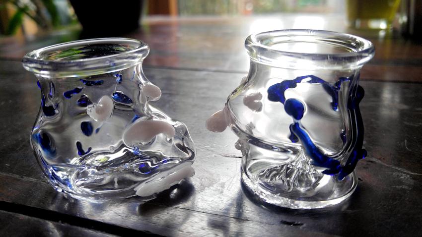 selbst geblasene Shot-Gläser