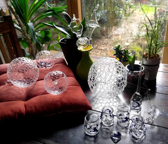 meine Ergebnisse des Glasbläser Workshops