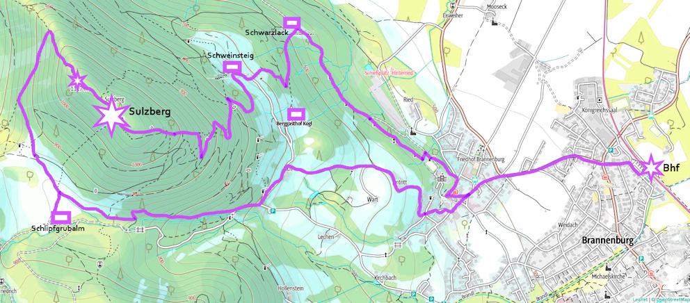 Wanderung ohne Auto: Sulzberg, ruhiger Gipfel und nette Hütten
