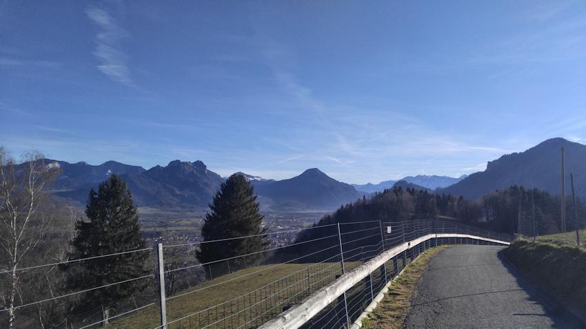 Blick ins Inntal auf dem Weg zum Sulzberg