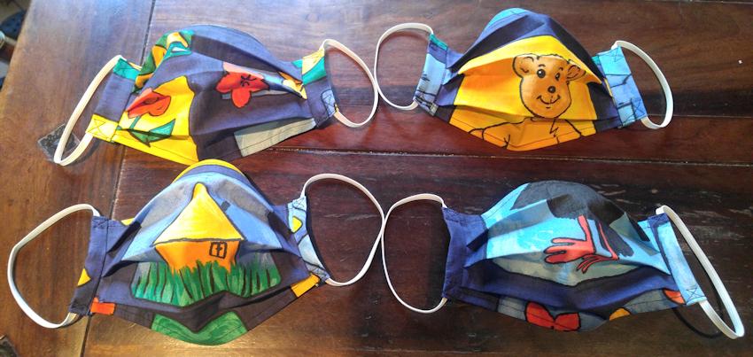DIY: Selbst genähte farbenfrohe Corona Masken