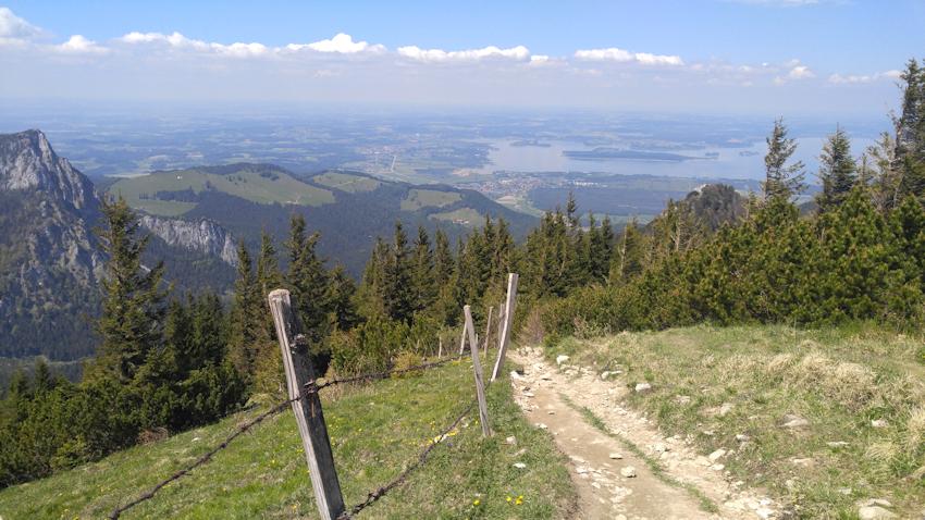 Abstieg von der Hochplatte Richtung Kampenwand