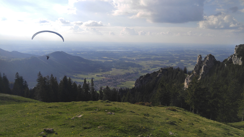 Abstieg nach Aschau im Chiemgau