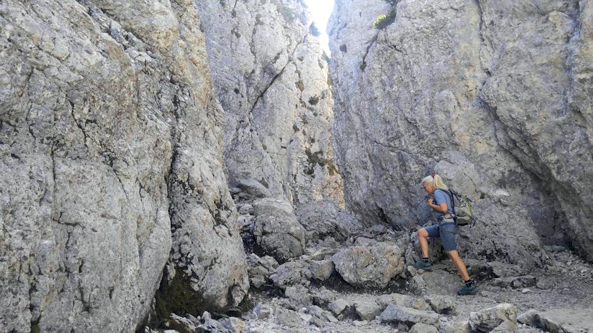 Abstieg von der Kampenwand durch die Kaisersäle