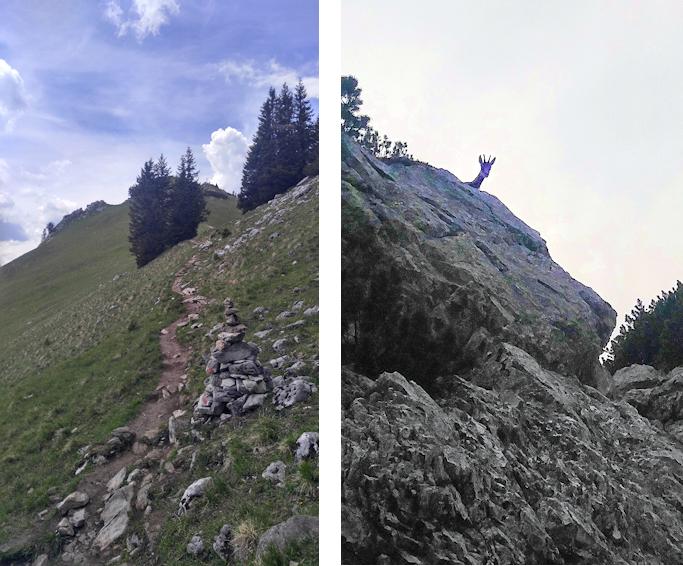 Aufstieg von der Käserwand zum Wildalpjoch