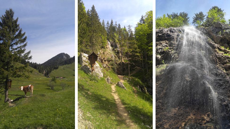 Arzmoos Wasserfall und Almen
