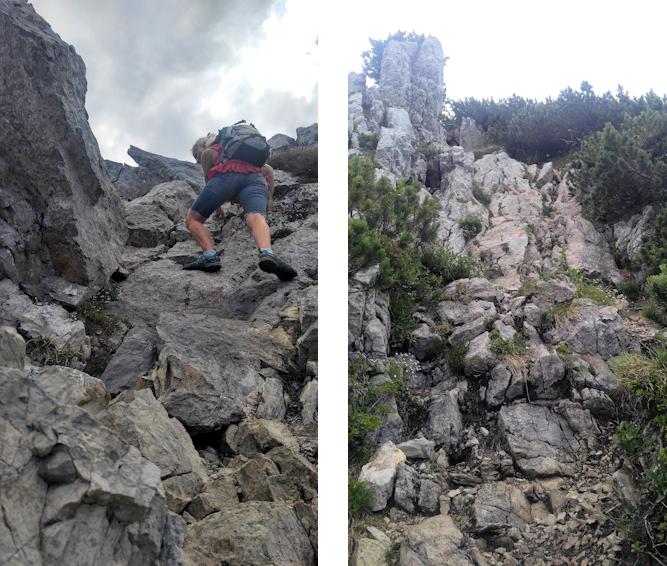 Kletterei am Nordgrat zur Aiplspitz
