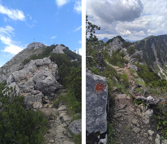 Abstieg von der Aiplspitz über den Westgrat