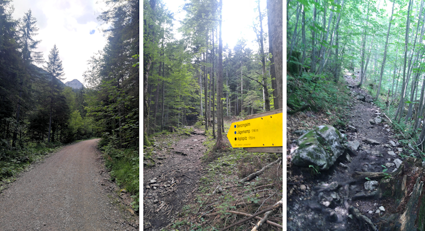 Aufstieg durch den Aurachgraben zur Aiplspitz
