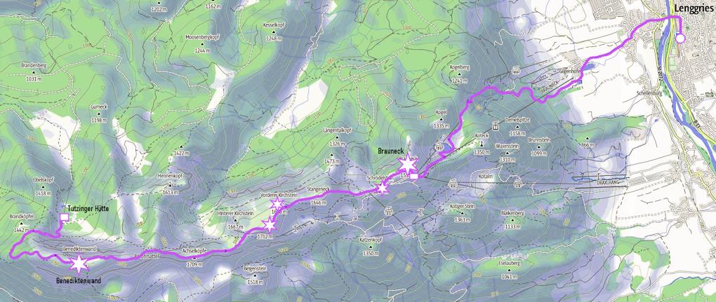 Spannende Zweitagestour: Benediktenwand von Lenggries über Brauneck bis zur Tutzinger Hütte
