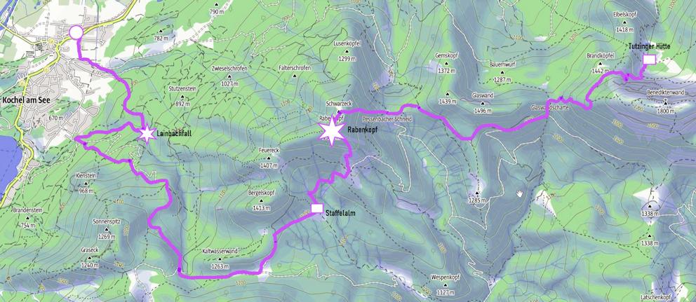 Spannende Zweitagestour: von der Tutzinger Hütte über den Rabenkopf nach Kochel am See