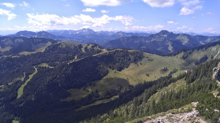 Am Gipfel der Brecherspitz