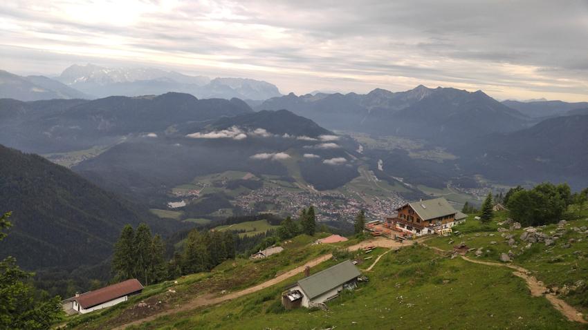 Abstieg vom Hochgern nach Marquartstein
