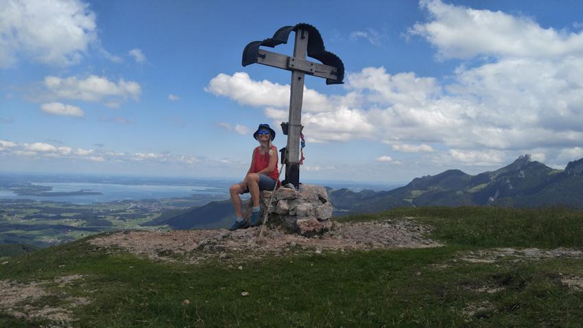 Gipfel des Laubenstein mit herrlichem Panorama ins Chiemgau