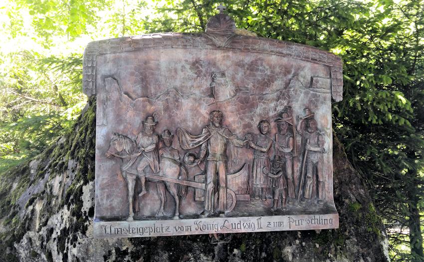 König Ludwig II. Tafel