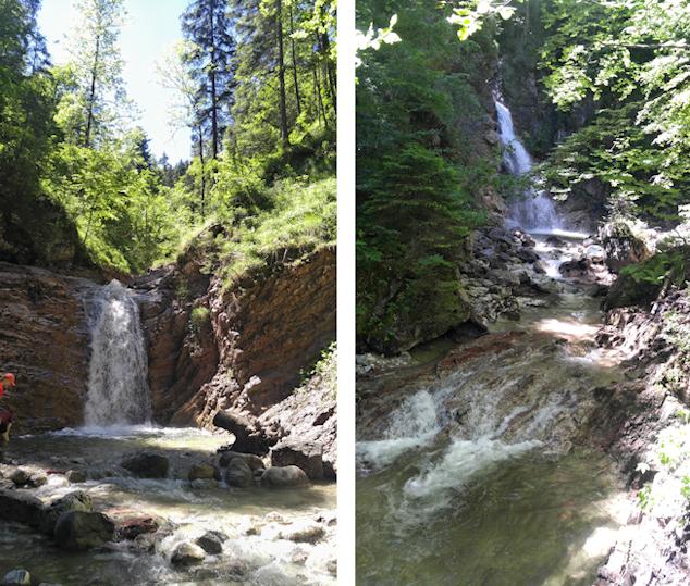 Wasserfälle in der Schleifmühlklamm bei Unterammergau