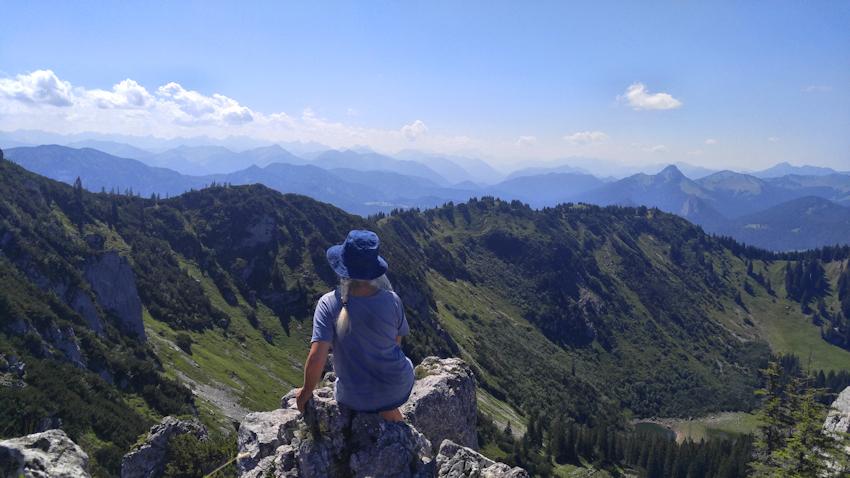 Gipfel des Blankenstein über den Normalweg