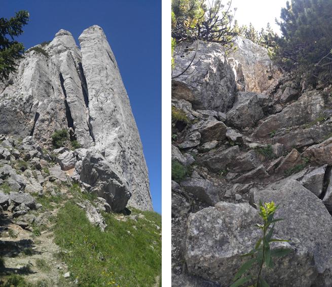Aufstieg vom Blankensteinsattel zum Risserkogel