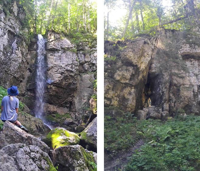 Sibli Wasserfall und Lourdesgrotte