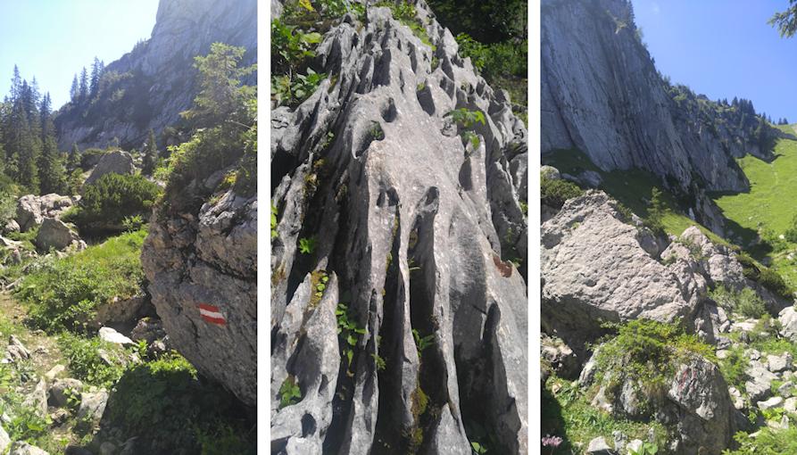 Felsenlandschaft unterhalb des Plankenstein